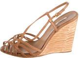 Miu Miu Leather Multistrap Sandals