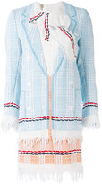 Thom Browne embroidered dress - women - Silk/Cotton - 38