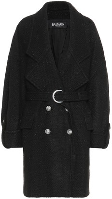 Balmain Wool-blend coat