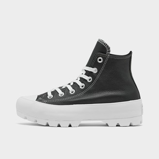 Converse Women's Chuck Taylor All Star Lugged Leather High Top Casual Shoes