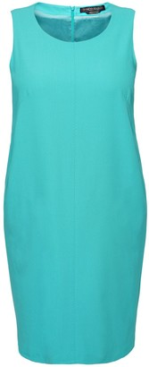 Marina Rinaldi Sleeveless Wool Crepe Knee Length Dress