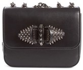 Christian Louboutin 'Mini Sweet Charity' Spiked Calfskin Shoulder/crossbody Bag - Black