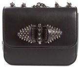 Christian Louboutin 'Mini Sweet Charity' Spiked Calfskin Shoulder/crossbody Bag - Black