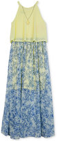 Amy Byer Maxi Dress with Attached Necklace, Big Girls (7-16)