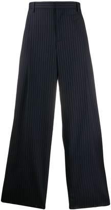 Loewe wide leg striped trousers