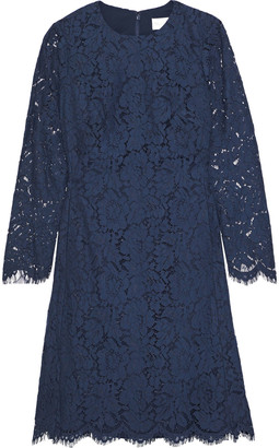 Mikael Aghal Flared Corded Lace Dress