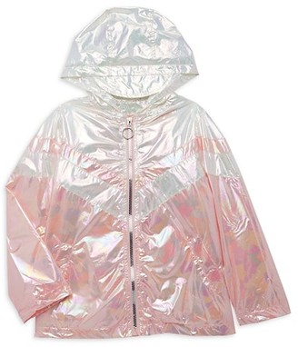 Urban Republic Little Girl's Chevron Abstract-Print Raincoat