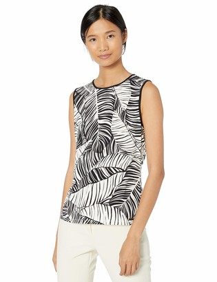 Calvin Klein Women's Piped Sleeveless Knit Top