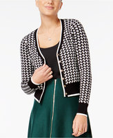 XOXO Juniors' Houndstooth Cardigan