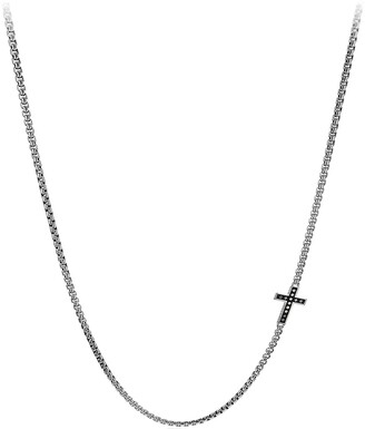 David Yurman Pave Cross Necklace with Diamonds
