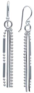 Giani Bernini Bead & Bar Drop Earrings in Sterling Silver, Create For Macy's