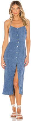 Indah Pisces Cotton Front Midi Dress