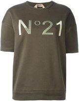 No.21 logo print sweatshirt