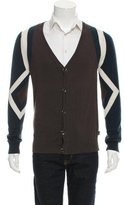 Just Cavalli Silk Colorblock Cardigan
