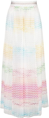 Missoni Mare Sheer Wide-Leg Beach Trousers