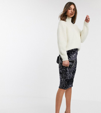 Y.A.S Tall Nicy high waisted sequin skirt