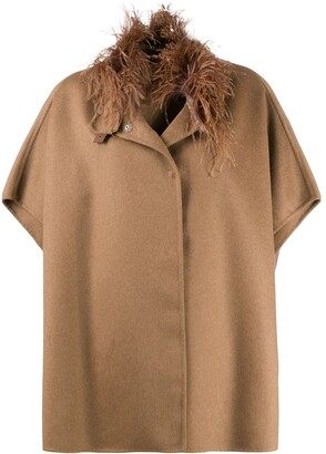 Fabiana Filippi Oversized Short-Sleeve Coat