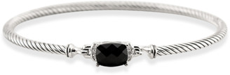 David Yurman Wheaton Bracelet (Black Onyx and Diamonds)
