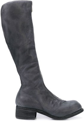 Guidi zip front knee boots