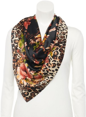 Apt. 9 Women's Leopard & Floral Print Square Scarf