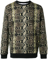 Givenchy snakeskin print sweatshirt - men - Cotton - XS