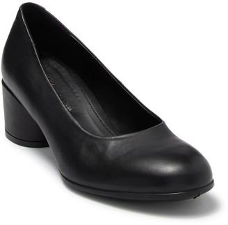 Ecco Shape 35 Suede Mod Block Heel Pump