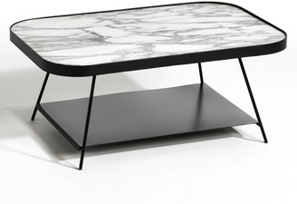Am.pm. Gemma Marble Coffee Table Designed by E. Gallina