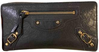 Balenciaga Navy Leather Wallets