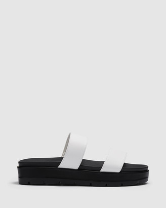 Therapy Women's White Flat Sandals - Slidin' - Size One Size, 6 at The Iconic