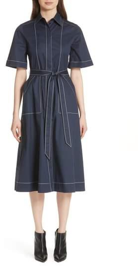 Burberry Carmen Belted Shirtdress