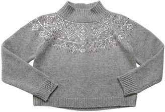 Ermanno Scervino Embellished Wool Blend Knit Sweater