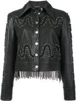 Yigal Azrouel studded detail fringed jacket