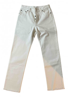 Celine White Denim - Jeans Trousers