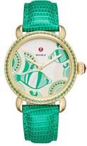 Michele Women's Seaside Topaz Diamond Watch, 36Mm