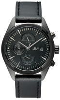 JBW Woodall Black Ion-Plated Stainless Steel & Diamond Chronograph Watch, 44mm