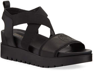 Taryn Rose Stephanie Leather Wedge Comfort Sandals