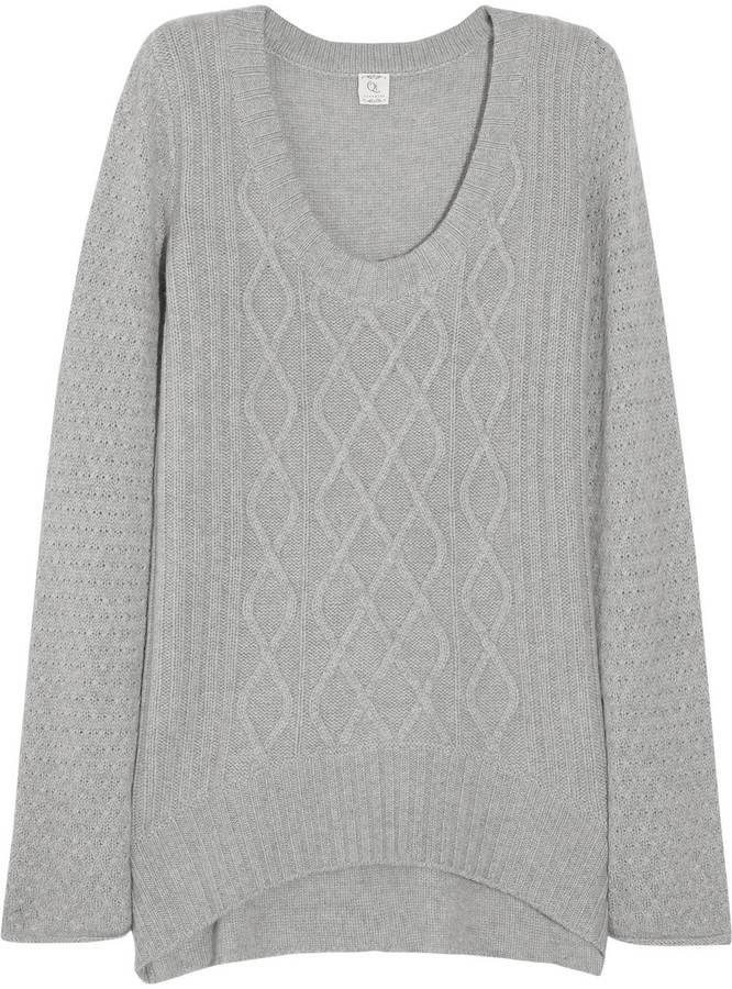 Qi Cable-knit cashmere sweater