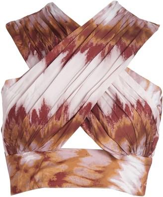 Vasiliki Atelier Irina Wrap Top - Tye Dye
