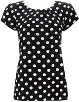Wallis Black Polka Dot Shell Top