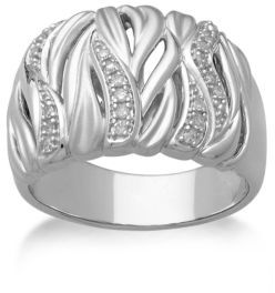 Lord & Taylor Sterling Silver & Diamond Ring