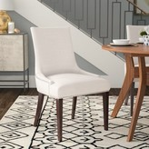 Abby Linen Upholstered Side Chair Brayden Studio