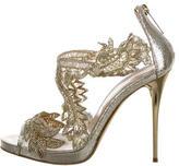 Oscar de la Renta Amberia Metallic Sandals