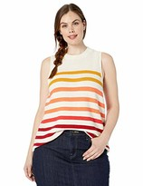 Lucky Brand Women's Plus Size Sleeveless Ombre Sweater