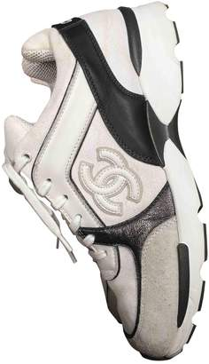 Chanel White Cloth Trainers