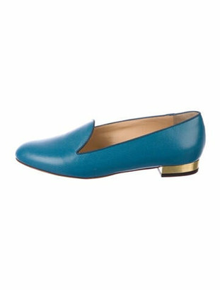 Charlotte Olympia Leather Loafers Blue