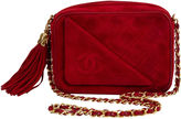 One Kings Lane Vintage Chanel Red Suede Camera Bag w/ Tassel