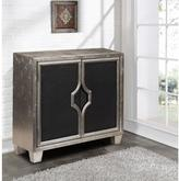 Pulaski Furniture Silver and Black Storage Cabinet