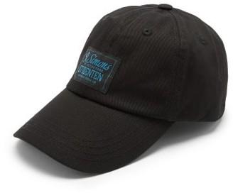 Raf Simons Studenten Logo-applique Cotton-twill Baseball Cap - Black