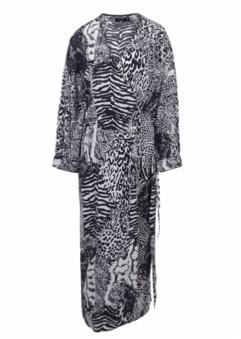 OVERWRITE RELIGION - Silence Maxi Wrap Dress - xsmall