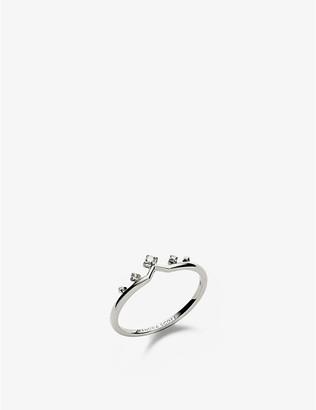 Kendra Scott Michelle 14ct white-gold and diamond ring